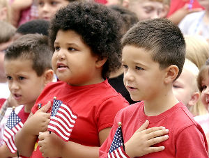 The AHA says that the line 'under God' in the Pledge of Allegiance is discriminatory to atheist children.