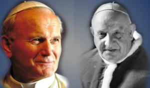 Bl. Pope John Paul II and Bl. Pope John XXIII will be canonized here, live on April 27, at 12:30 a.m. PDT/3:30 a.m. EDT.