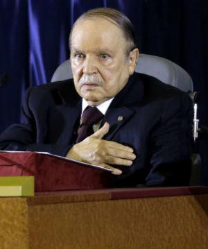 Seventy-seven years of age and using a wheelchair, there has been concern that Bouteflika is too old and infirm to be in charge of this volatile African nation.