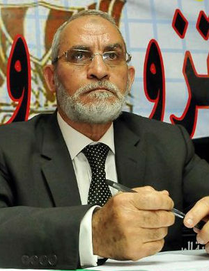 'If they hung us a thousand times God will never detract from what it is right,' Muslim Brotherhood Mohamed Badie reportedly shouted. 'We will not tremble because death in the name of Allah is faith. May Allah accept.'