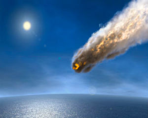 One asteroid, believed to have hit Earth 3.26 billion years ago, was 36 miles wide, which scientists said was six times bigger than the blast which wiped out dinosaurs.