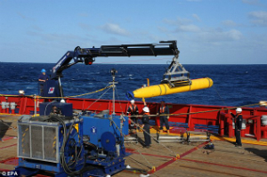 The Bluefin 21 submersible will scan the seafloor for any signs of wreckage. Each mission will take about 24 hours to complete and another day will be needed to prepare Bluefin for a second mission. The search could take weeks.
