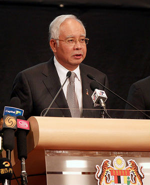 Najib Razak, Malaysia's prime minister gives the latest update on the search for the missing Malaysian Air Flight 370 during a news conference in Kuala Lumpur, Malaysia.
