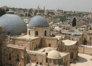 The Church of the Holy Sepulchre is home to the place where Jesus was crucified and buried.