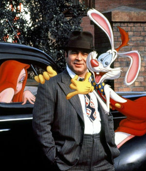 Perhaps Bob Hoskins' most popular role was as the irascible detective navigating around the mythical 'Toontown' in 'Who Framed Roger Rabbit.'