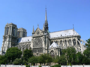 Notre Dame's cathedral is widely considered one of the finest examples of French Gothic architecture in France and in Europe.