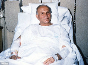 Pope John Paul II miraculously recovered from assassination attempt. After his recovery, he forgave his would-be killer, visiting him in prison.