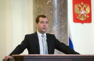 Russia's Prime Minister, and former president of Russia, Dmitry Medvedev said that Ukraine is on the brink of civil war.
