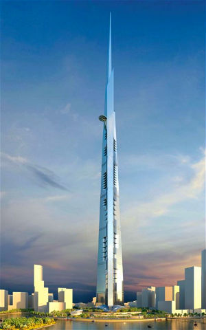 High winds will also be a problem for this gargantuan building, so the tower will change shape regularly to counter it.