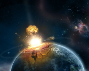 Earth was struck several times by massive asteroids billions of years ago.