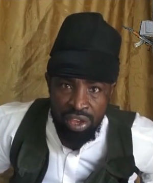 A screengrab taken on March 24 from a video shows a man claiming to be the leader of Boko Haram, Abubakar Shekau