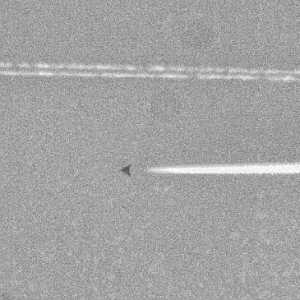 A close up of the mysterious craft spotted flying over Amarillo, Texas on March 10.
