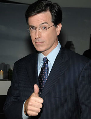 'Simply being a guest on David Letterman's show has been a highlight of my career,' Stephen Colbert said. 'Now, if you'll excuse me, I have to go grind a gap in my front teeth.'