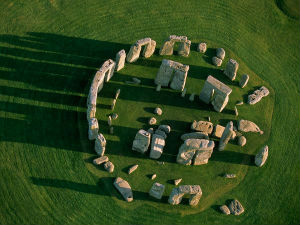 Stonehenge is the center of the most dense complex of Neolithic and Bronze Age monuments in England, including several hundred burial mounds.