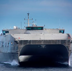 The rail gun will be mounted on high-speed vessel the USNS Millinocket for sea trials in 2016.