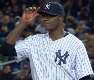 A mysterious substance was visible on Pineda's hand through the early portion of the April 10 game against the Red Sox, during the fifth inning the substance did not appear.