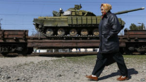 Ukraine's military has evacuated the Crimean peninsula in March, effectively giving up control of the region.