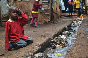 Slums are common breeding grounds for TB.