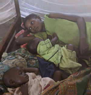 While mosquito nets are being freely distributed, health officials in the Cameroon are concerned that many families are not using them.