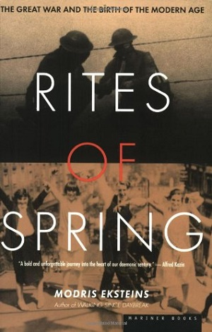 In his magnificent narrative of why European nations embraced the prospect of World War I - Rites of Spring: the Great War and the Birth of the Modern Age - the Canadian scholar Modris Eksteins writes about the chief consequence of the breakdown in a shared consensus on morality.