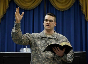 Donate a Bible to show military service members that you are thankful for their service.