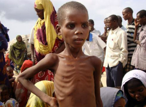 Children are among the first to suffer. About 50,000 children are already starving to death in Somalia.