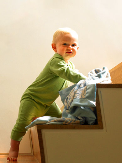 Babies are draw to stairs like a magnet.