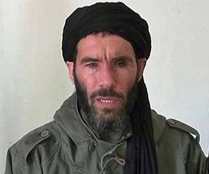 Terrorist groups, allied with the Al Mulathameen Brigade, which is loyal to Algerian terrorist leader Mokhtar BelMokhtar, pictured, have fled into the largely desert region to hide.