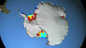 Satellite imagery shows Antarctica ice is melting much faster than imagined.