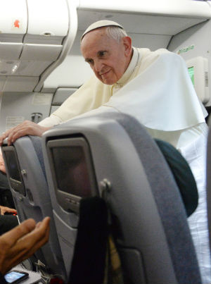 Relating his thoughts to an inflight news conference on his return to Rome, the Pope recalled his dramatic gestures during the visit.