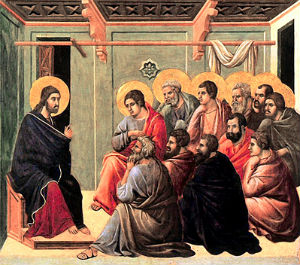 Jesus' appeal to the apostles to not be sad because He is leaving them to say all Christians can feel close to each other, even if separated by time, distance and even death because we are all united in Christ who is present everywhere.