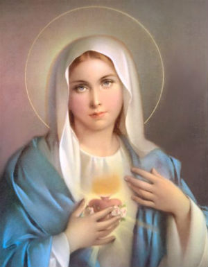 Through the Blessed Virgin Mary's fiat a new covenant is established. She communicates Jesus by act and by word.