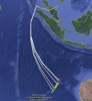 Malaysian authorities released a map showing the potential flight path of Flight 370.