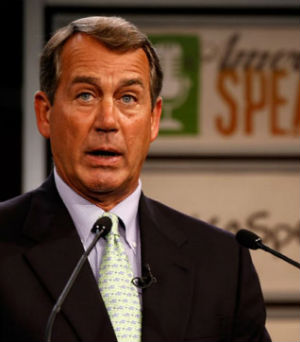 John Boehner declared on 'Sunday Morning Futures with Maria Bartiromo' on Fox News that he has no interest in doing that with Lerner.
