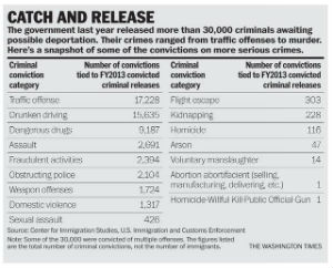 DHS also included a breakdown of the kinds of offenses -- but did not include the number of offenses per type of crime.