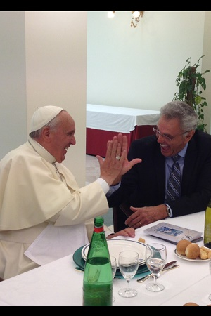 Pope Francis and James Robison: Two Christian brothers exchanging a jovial and hopeful moment