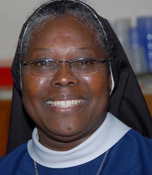 Sister Patrice from the Sisters of St. Joseph in Grenville, Grenada.