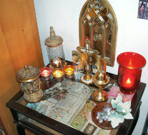 Many Catholic homes have a small altar or devotional corner.