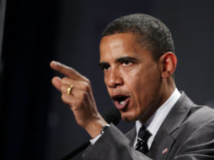 Obama spoke out during a Democratic dinner in New York.