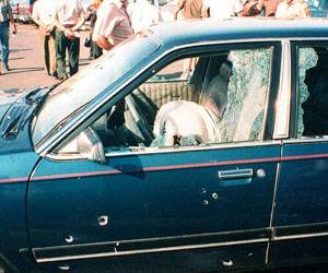 Cardinal Posadas in 1993 was shot 14 times as he sat in his car at the airport. He was shot with automatic weapons.