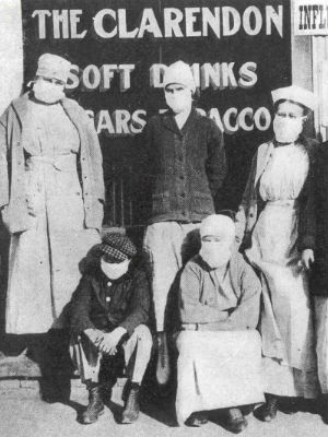 The deadly Spanish flu killed as many as 50 million people in the years following World War I.