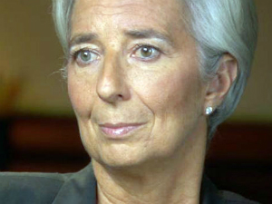 IMF managing director Christine Lagarde gave a keynote address where she quoted Karl Marx.