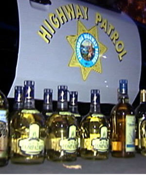 Disguising methamphetamine in liquid form in tequila bottles is a common practice among drug smugglers.