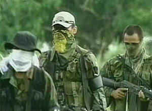 Members of Colombia's Marxist rebel organization the Revolutionary Armed Forces of Colombia, which have utilized the drug trade to fund their five-decade-long war against the Colombian government.