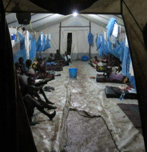 Half of all South Sudanese refugees in Ethiopian camps live under plastic sheeting where there is a severe shortage of water and latrines.