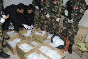 Chinese officials claim that African drug smugglers are bringing marijuana, heroin and cocaine into the country through southern China.