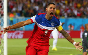 Dempsey made the first goal of the game, scoring just 32 seconds into the match.