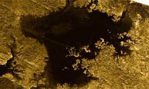 A picture from June, 2013 which reportedly shows a 'magic island' on Saturn's moon Titan, is baffling scientists.