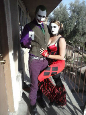 A snapshot of the Millers, dressed as comic book characters has been widely circulated.