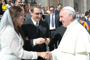 Deanna and Michael with Pope Francis.